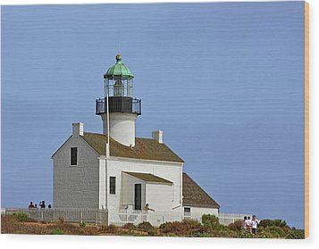 Old Point Loma Lighthouse San Diego California Wood Print by Christine Till