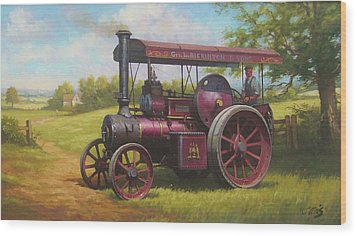 Old Traction Engine. Wood Print by Mike  Jeffries