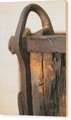 Old Wooden Barrel At The Ore Mine Sweden Wood Print by Dagmar Batyahav
