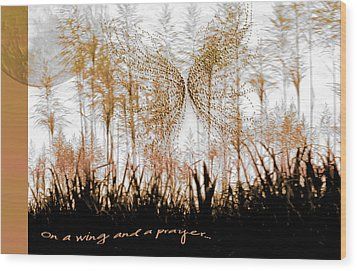 On A Wing And A Prayer Wood Print by Holly Kempe