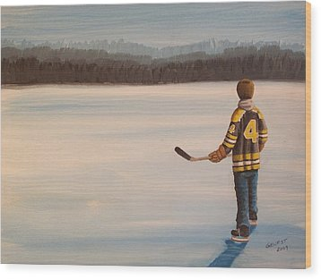 On Frozen Pond - Bobby Wood Print by Ron  Genest