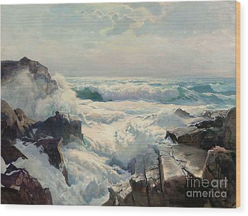 On The Maine Coast Wood Print by Pg Reproductions