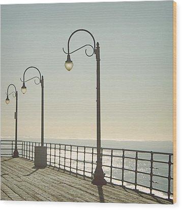 On The Pier Wood Print by Linda Woods