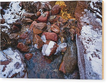 On The Rocks Wood Print by Christopher Holmes
