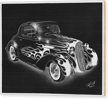 One Hot 1936 Chevrolet Coupe Wood Print by Peter Piatt