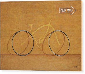One Way Wood Print by Horacio Cardozo