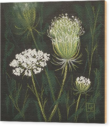 Opening Lace Wood Print by Lisa Kretchman