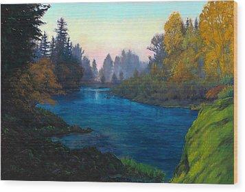 Oregon Santiam Landscape Wood Print by Michael Orwick