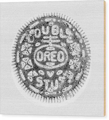 Oreo In Negetive Wood Print by Rob Hans