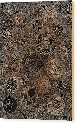 Organic Forms Wood Print by Frank Tschakert