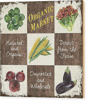Organic Market Patch Wood Print by Debbie DeWitt