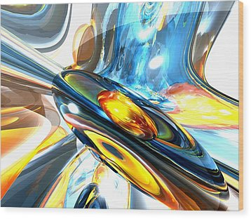 Oscillating Color Abstract Wood Print by Alexander Butler