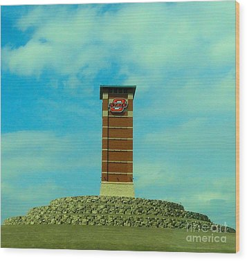 Oklahoma State University Gateway To Osu Tulsa Campus Wood Print by Janette Boyd