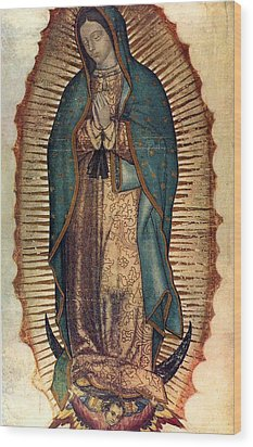 Our Lady Of Guadalupe Wood Print by Pam Neilands