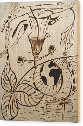Our World No.5  Married Miscommunication Wood Print by Neshka Muchalska