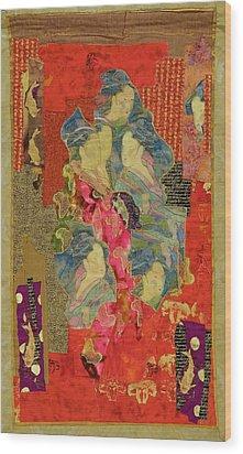 Painted Geisha Wood Print by Roberta Baker