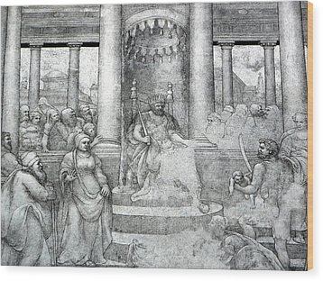 Palace Mural Wood Print by Lori Seaman