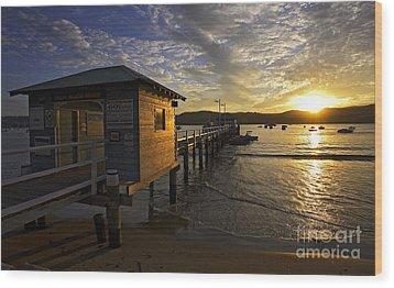 Palm Beach Sunset Wood Print by Avalon Fine Art Photography