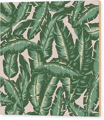 Palm Print Wood Print by Lauren Amelia Hughes