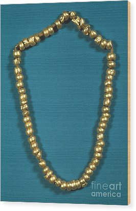 Panama: Gold Beads, C1000 Wood Print by Granger