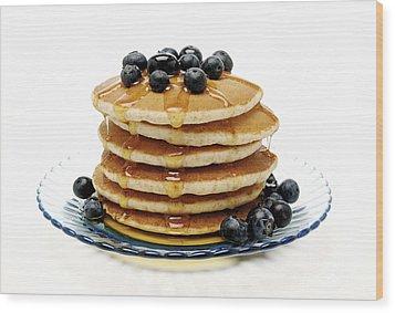 Pancakes Wood Print by Glennis Siverson