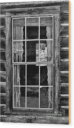Panes To The Past Wood Print by Sandra Bronstein