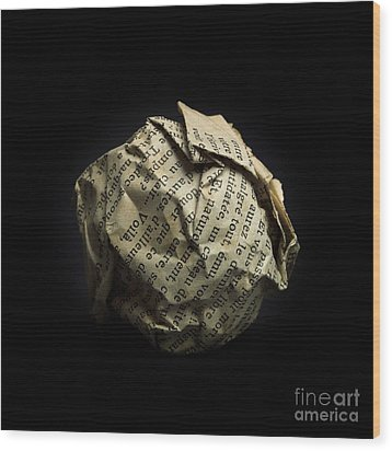 Paper Wood Print by Bernard Jaubert