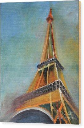 Paris Wood Print by Jutta Maria Pusl