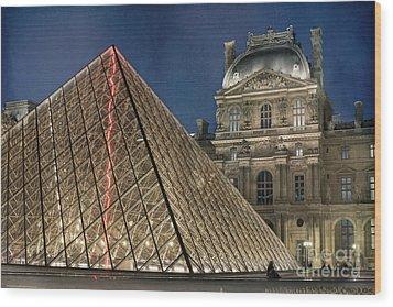 Paris Louvre Wood Print by Juli Scalzi