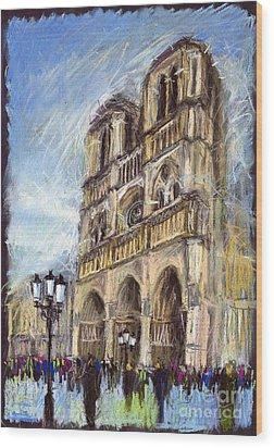 Paris Notre-dame De Paris Wood Print by Yuriy  Shevchuk