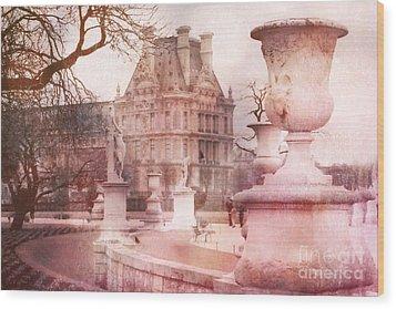 Paris Tuileries Park Garden - Jardin Des Tuileries Garden - Paris Tuileries Louvre Garden Sculpture Wood Print by Kathy Fornal