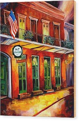 Pat O Briens Bar Wood Print by Diane Millsap