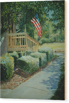 Patriot Next Door Wood Print by Shirley Braithwaite Hunt