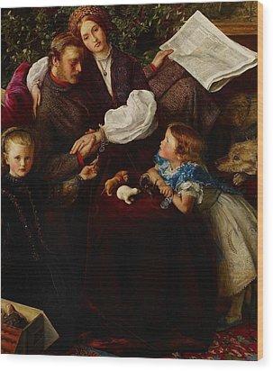 Peace Concluded Wood Print by Sir John Everett Millais