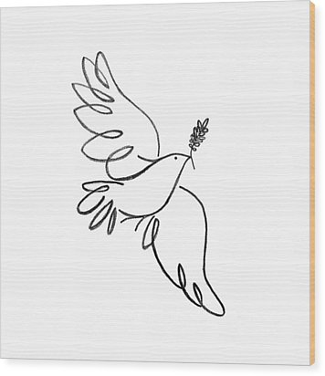 Peace Dove Wood Print by Jenni Robison