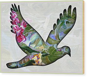 Peace For Peace Wood Print by Mindy Newman