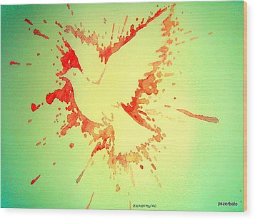 Peace Made By War Wood Print by Paulo Zerbato
