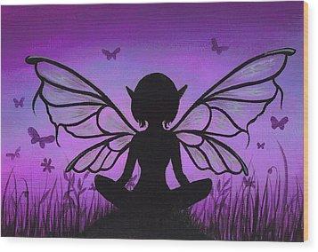 Peaceful Meadows Wood Print by Elaina  Wagner