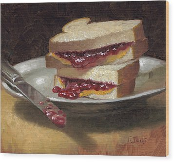 Peanut Butter Jelly Time Wood Print by Timothy Jones