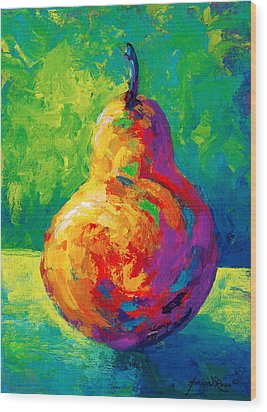 Pear II Wood Print by Marion Rose