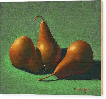 Pears Wood Print by Frank Wilson