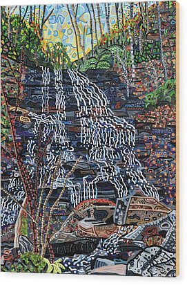 Pearson's Falls Wood Print by Micah Mullen