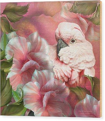 Peek A Boo Cockatoo Wood Print by Carol Cavalaris
