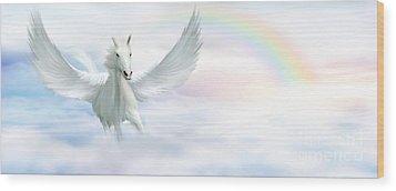 Pegasus Wood Print by John Edwards