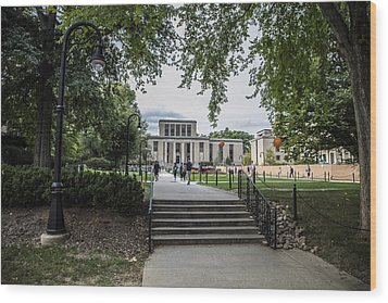 Penn State Library  Wood Print by John McGraw