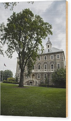 Penn State Old Main From Side  Wood Print by John McGraw