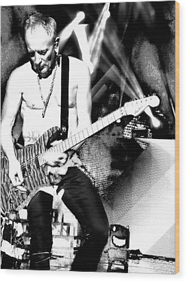 Phil Collen Of Def Leppard 4 Wood Print by David Patterson