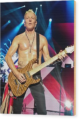 Phil Collen Of Def Leppard 5 Wood Print by David Patterson