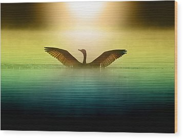 Phoenix Rising Wood Print by Rob Blair