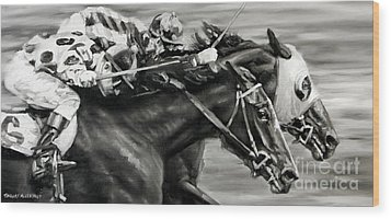 Photo Finish Wood Print by Thomas Allen Pauly